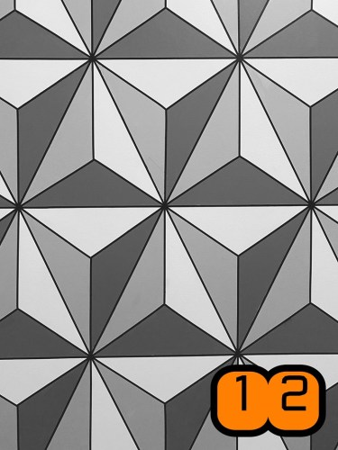 Make this Epcot Spaceship Earth Wall for your home 12