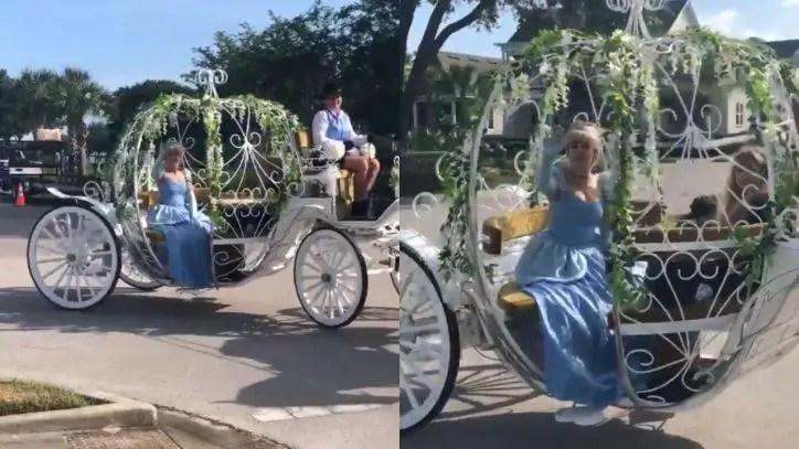Cinderella brings the Disney Magic to local Orlando Neighborhood