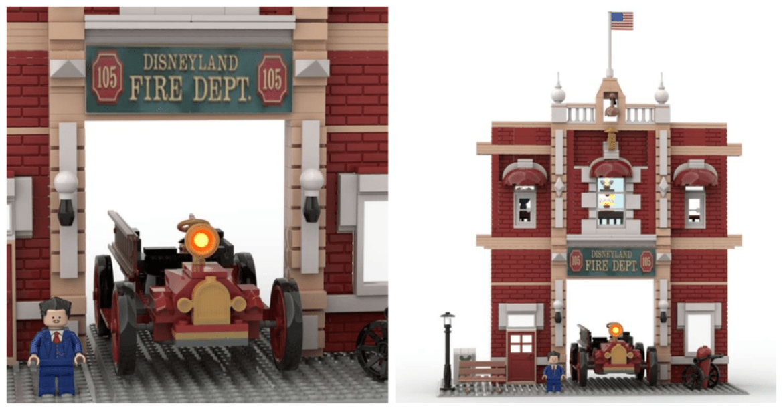 Amazing LEGO Ideas Walt Disney Firehouse LEGO Build