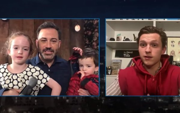 Tom Holland Dressed as Spider-Man to Surprise Jimmy Kimmel's Son for his Birthday 1