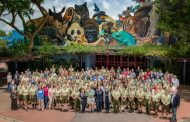 Bob Iger congratulates the Animal Kingdom Care Team for winning prestigious award