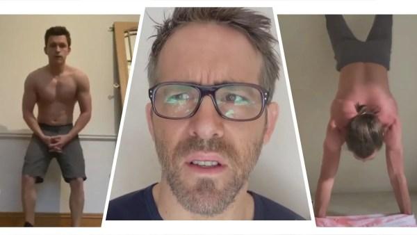 Ryan Reynolds and Jake Gyllenhaal Respond to Tom Holland's 'Shirtless Handstand Challenge' 1