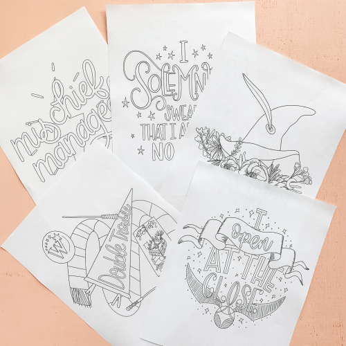 Manage Some Mischief With These Harry Potter Coloring Pages 2