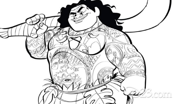 See How Far Your Creativity Will Go With These Moana Coloring Pages 4