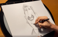 Learn How To Draw A Disney Caricature Of Walt Disney!