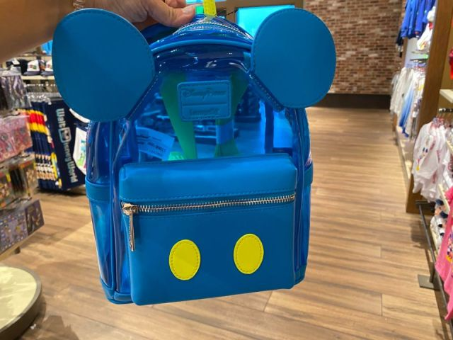 Clear Blue Mickey Loungefly Bag From Neon Summer Fun Collection 2