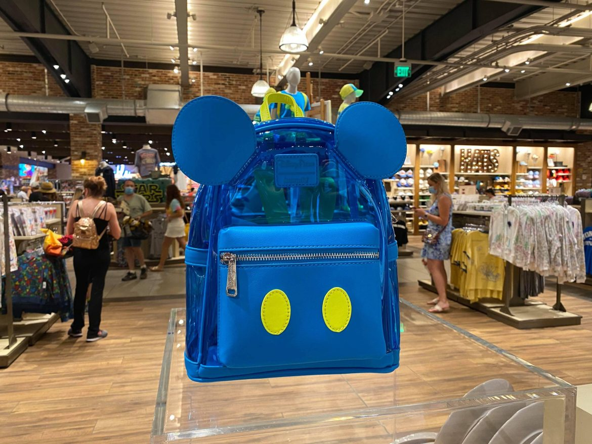 Clear Blue Mickey Loungefly Bag From Neon Summer Fun Collection