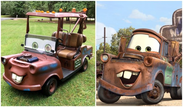 You Could Own Your Very Own 'Tow Mater' Golf Cart 1