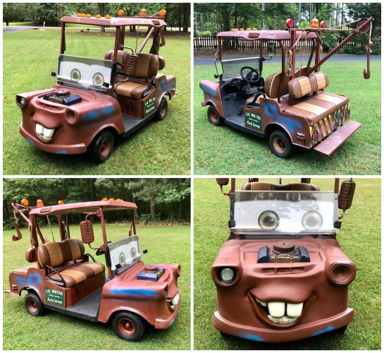 You Could Own Your Very Own 'Tow Mater' Golf Cart 2