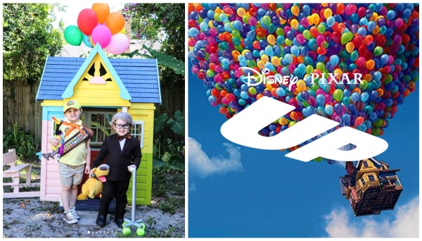 Disney Mom Creates 'Up' Themed Playhouse for her Kids 1