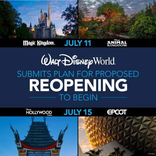 Official Plans Unveiled for the Phased Reopening of Disney World Resort Theme Parks, Resort Hotels and Disney Stores 1