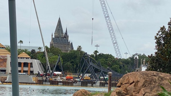 Universal's Jurassic Park 'Velocicoaster' Construction Update 2
