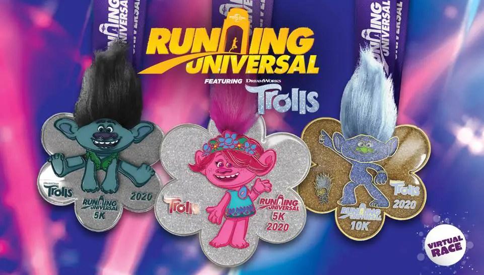 Running Universal Virtual Race Featuring DreamWorks Animation's Trolls