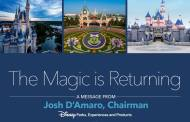 Chairman of Disney Parks Experiences and Products Josh D'Amaro issues a statement on reopening of Disneyland