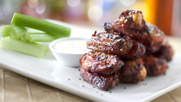 honey-coriander chicken wings
