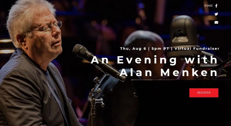 Enjoy a live performance with Alan Menken, Lin-Manuel Miranda, and more!