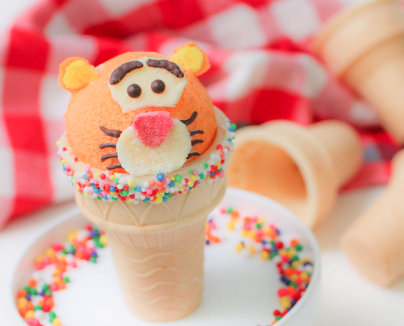 tigger cupcake cones