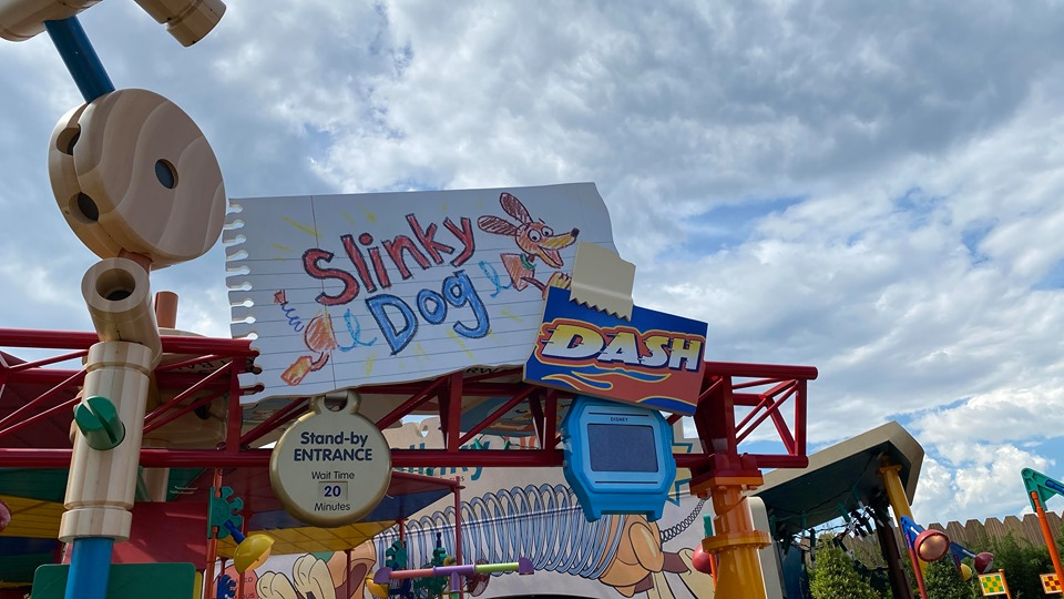 Social Distancing Measures On Slinky Dog Dash At Hollywood Studios