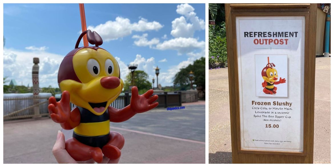 Spike the Bee flies into Epcot for the Taste of Epcot Food & Wine Festival