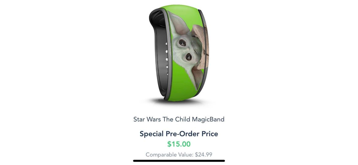 Baby Yoda Magicband now available for preorder on the Disney World website