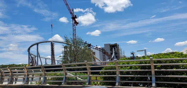 Tron Coaster Contruction update from the Magic Kingdom 3