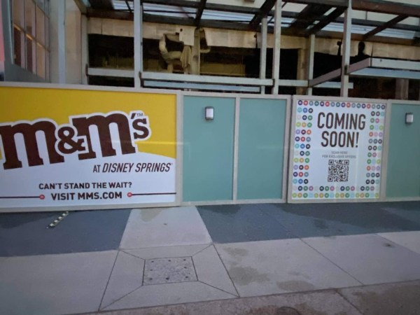 M&M Store Construction update from Disney Springs 1