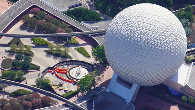 See Epcot's New Pylons from Above with this Aerial View