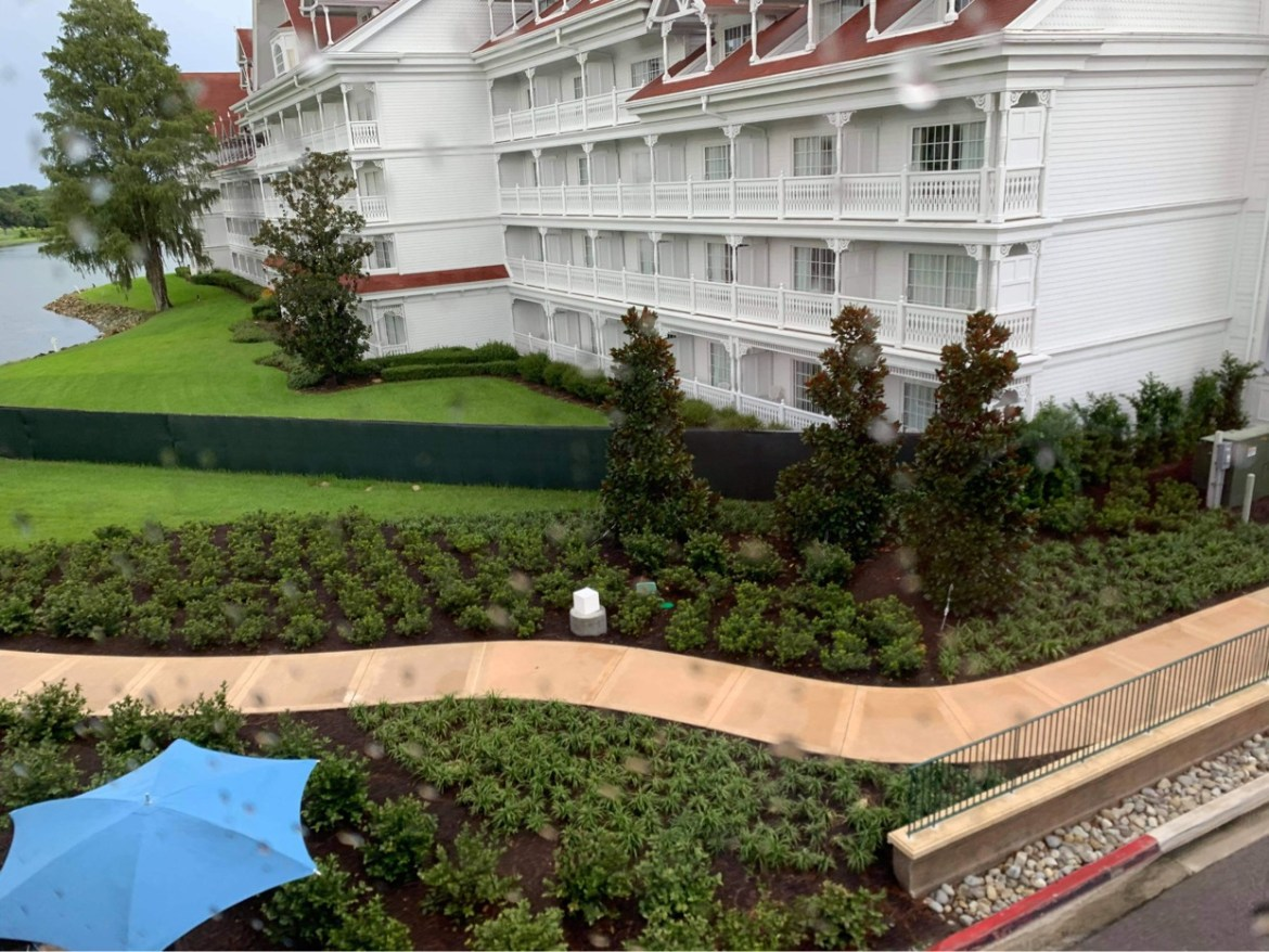 Construction continues on walkway between Grand Floridian Resort and Magic Kingdom