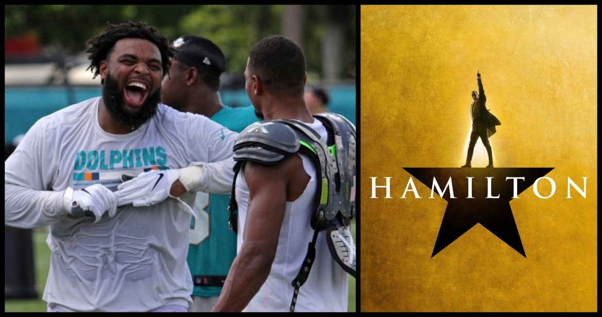 Miami Dolphins Christian Wilkins Sings 'Hamilton' Soundtrack During Training Camp