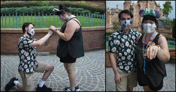 Guest Proposes in Front of 'The Haunted Mansion' During First Visit to Walt Disney World 1