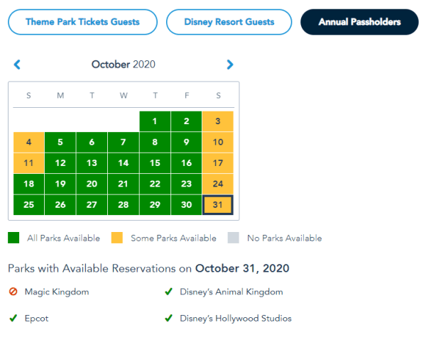 Disney Park Passes Unavailable For Halloween At Magic Kingdom 2