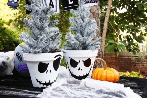 Jack Skellington Flower Pots