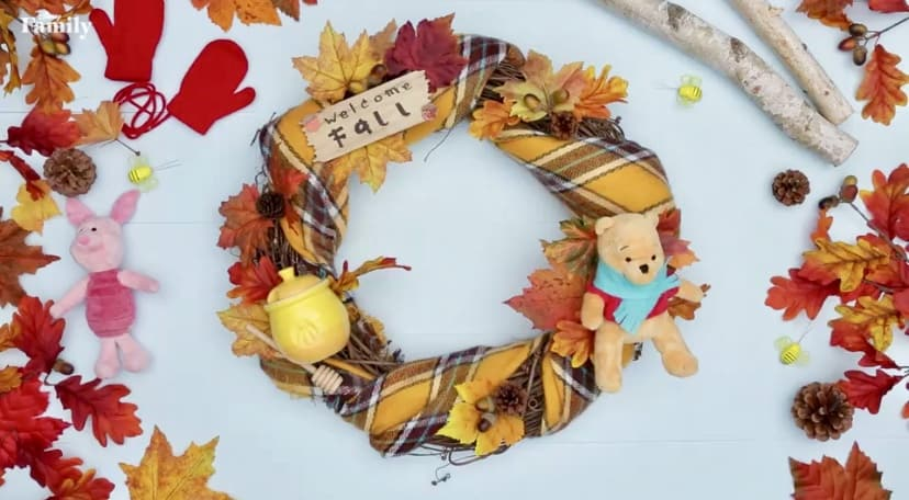 Welcome Fall With A DIY Winnie The Pooh Wreath!