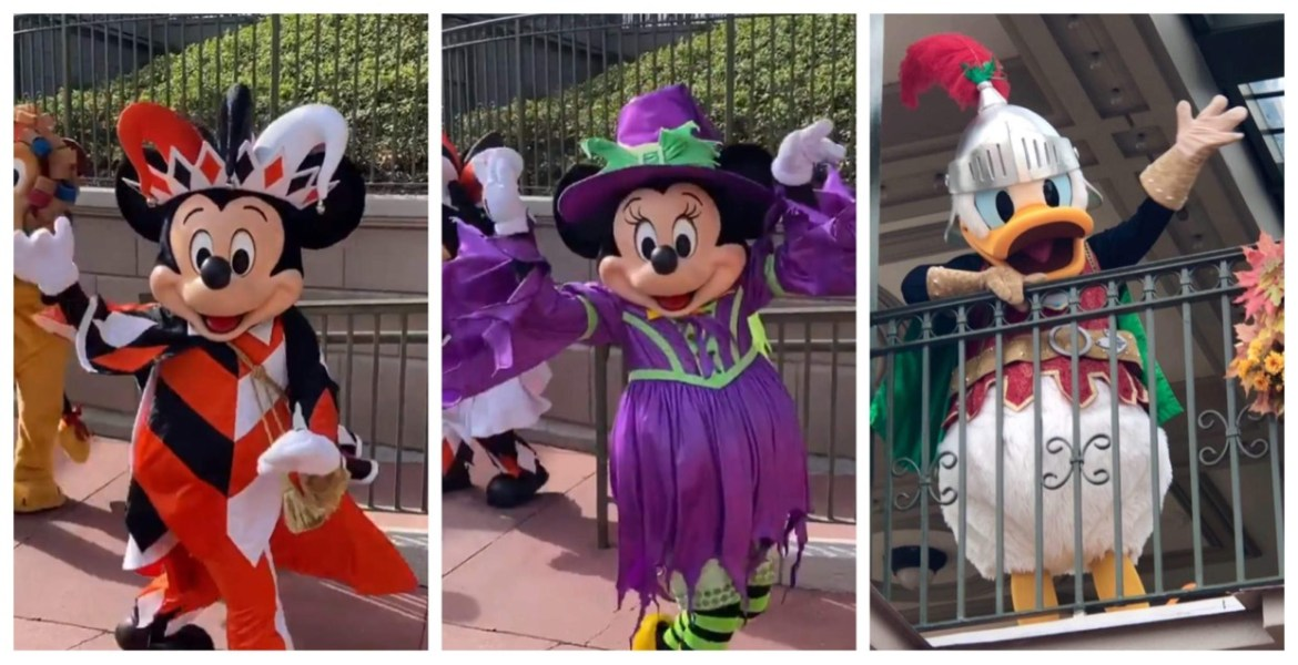 Disney Characters sporting new outfits for Halloween
