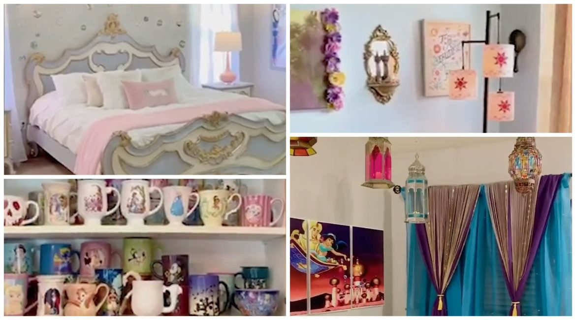 Woman Gives Tour of Her Disney Themed Home and it is a Dream Come True