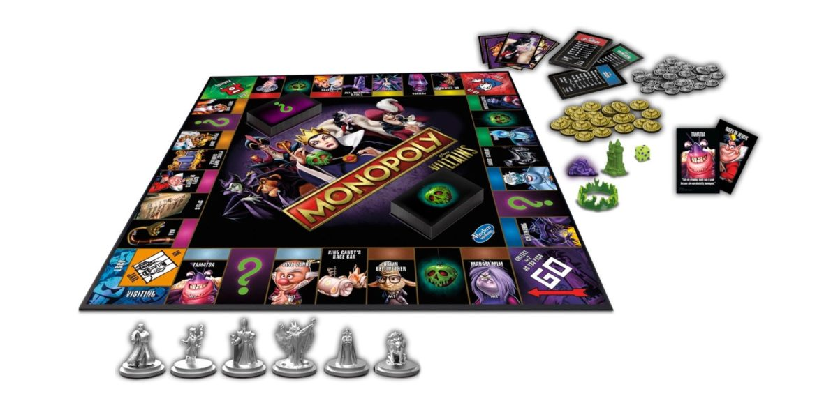 Hasbro and Disney Launch New Villain Themed Monopoly