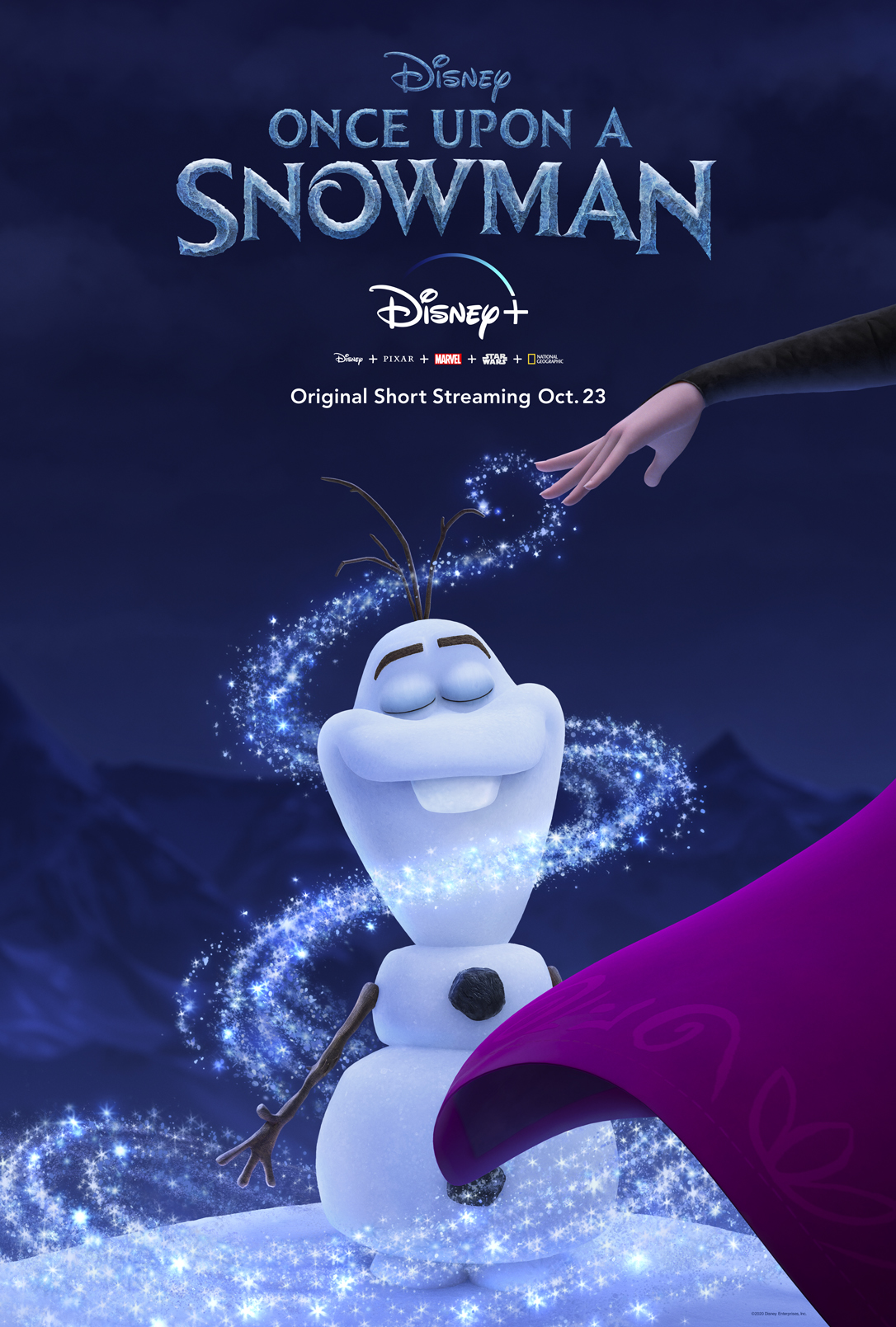 "A brand new Disney original short called ""Once Upon A Snowman"" will be coming to Disney+ on October 23rd"