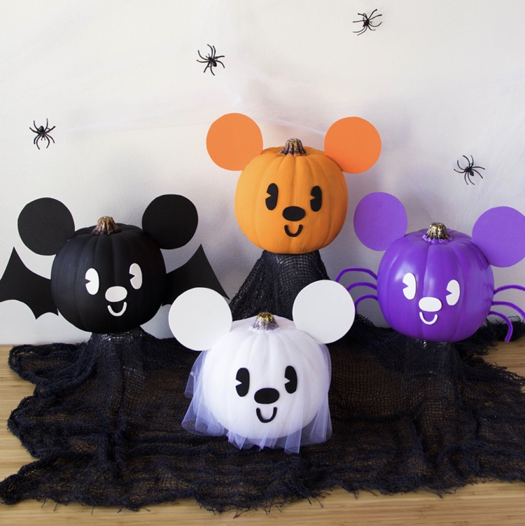 4 Ways To Craft Adorable Mickey Pumpkins!