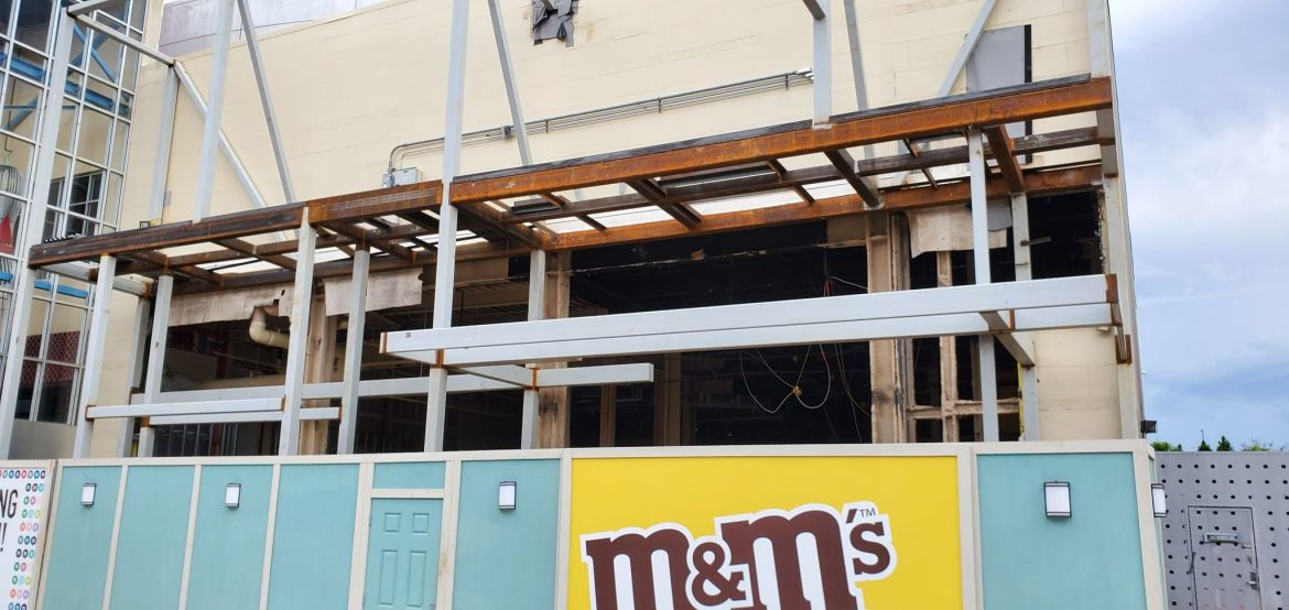 M&M Store Construction update from Disney Springs