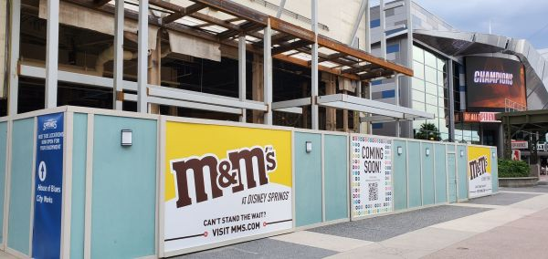 M&M Store Construction update from Disney Springs 4