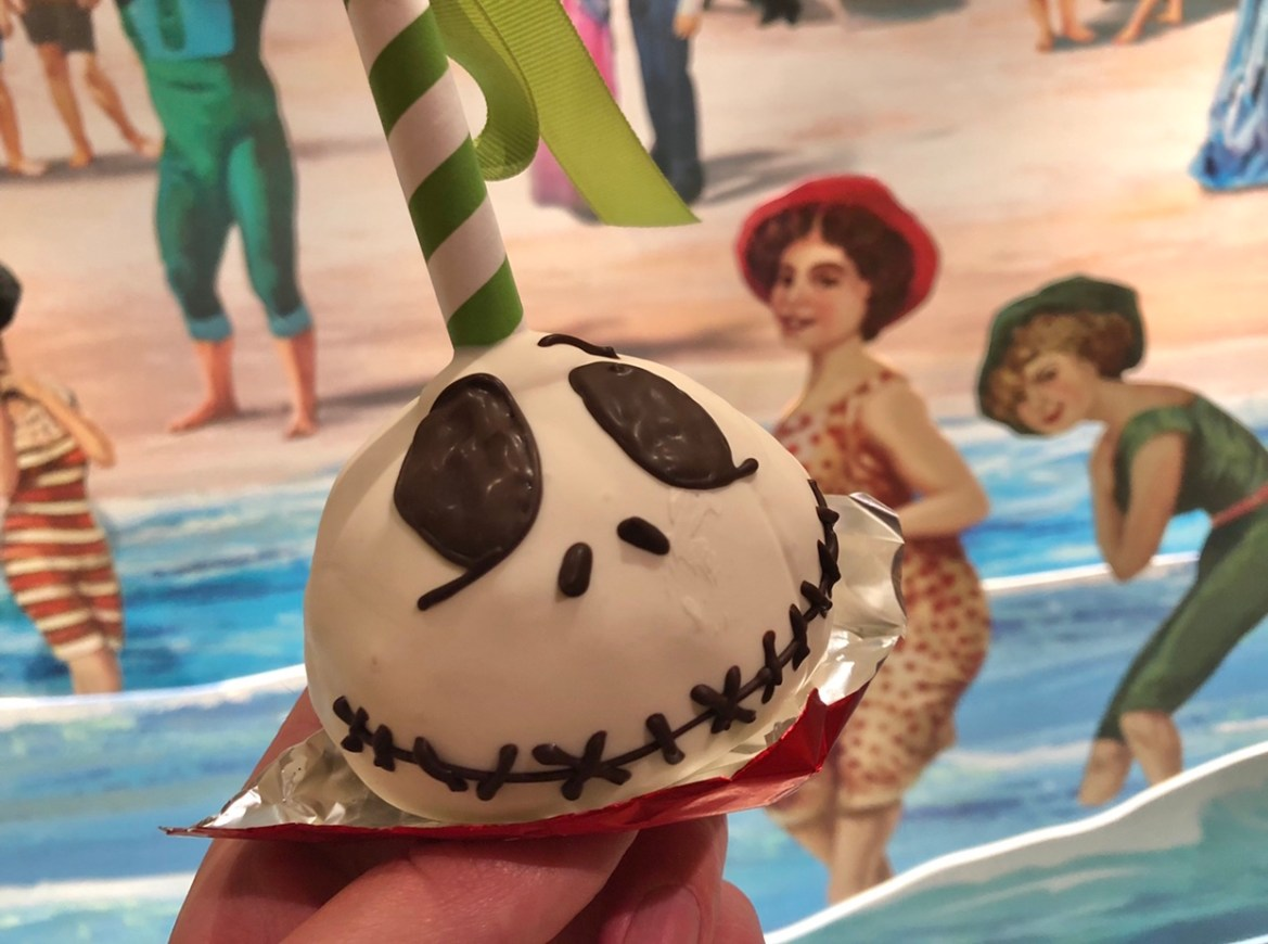Jack Skellington Pumpkin Cake Pop at Disney's Grand Floridian