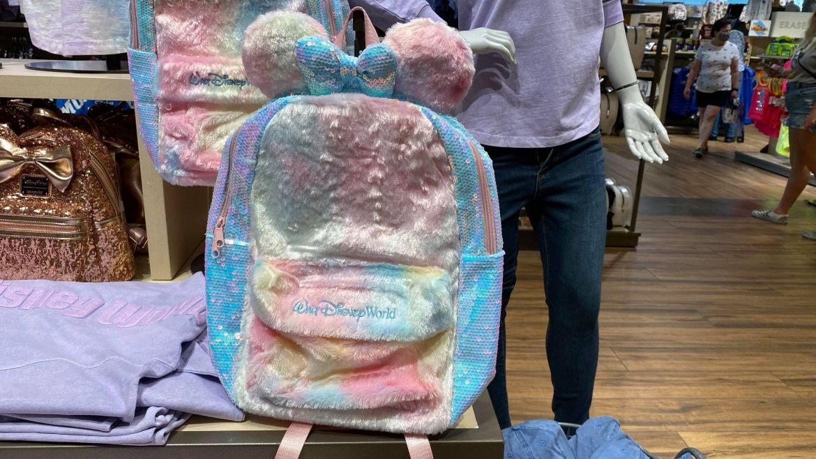 New Cotton Candy Minnie Backpack Now At Walt Disney World