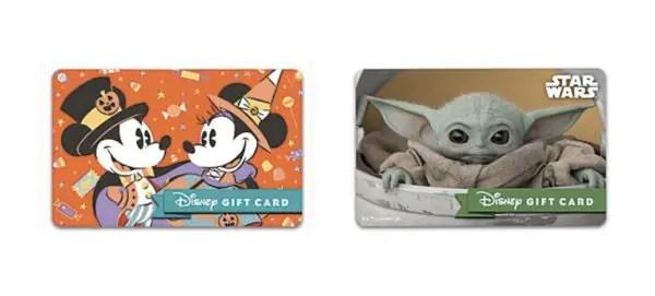 New Disney Gift Card Designs 1