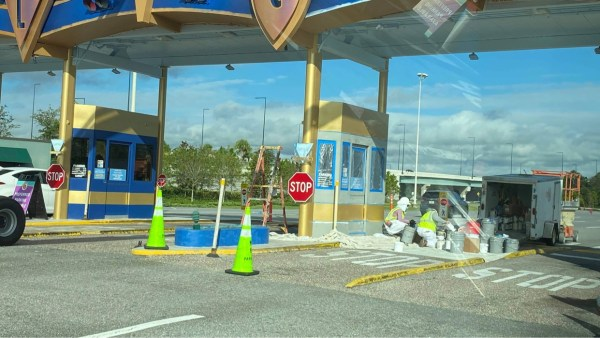 Construction continues on the Toll Plaza in the Magic Kingdom 1