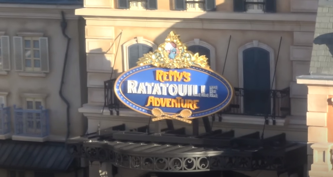 Remy's Ratatouille Adventure Marquee Sign Installed in Epcot