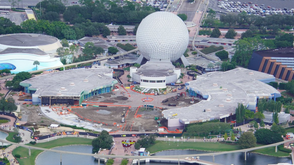 PHOTOS: Aerial View of the Demolition Going on Now in EPCOT