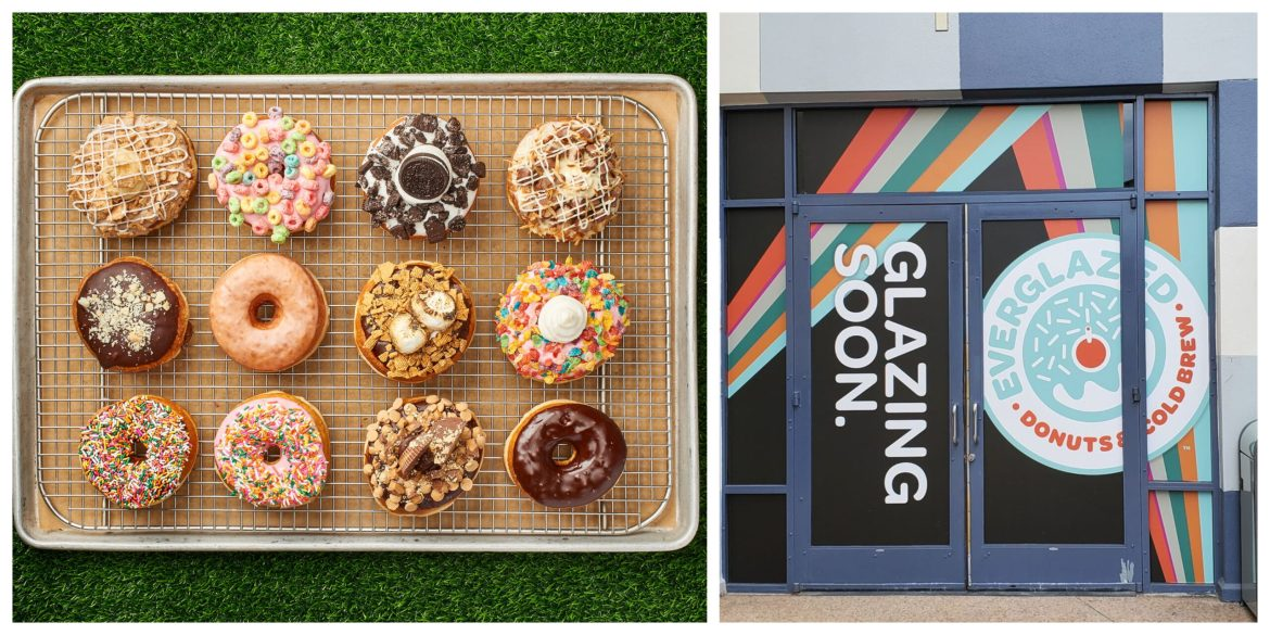 First look at a few of the yummy donuts you'll find from Everglazed Donuts in Disney Springs