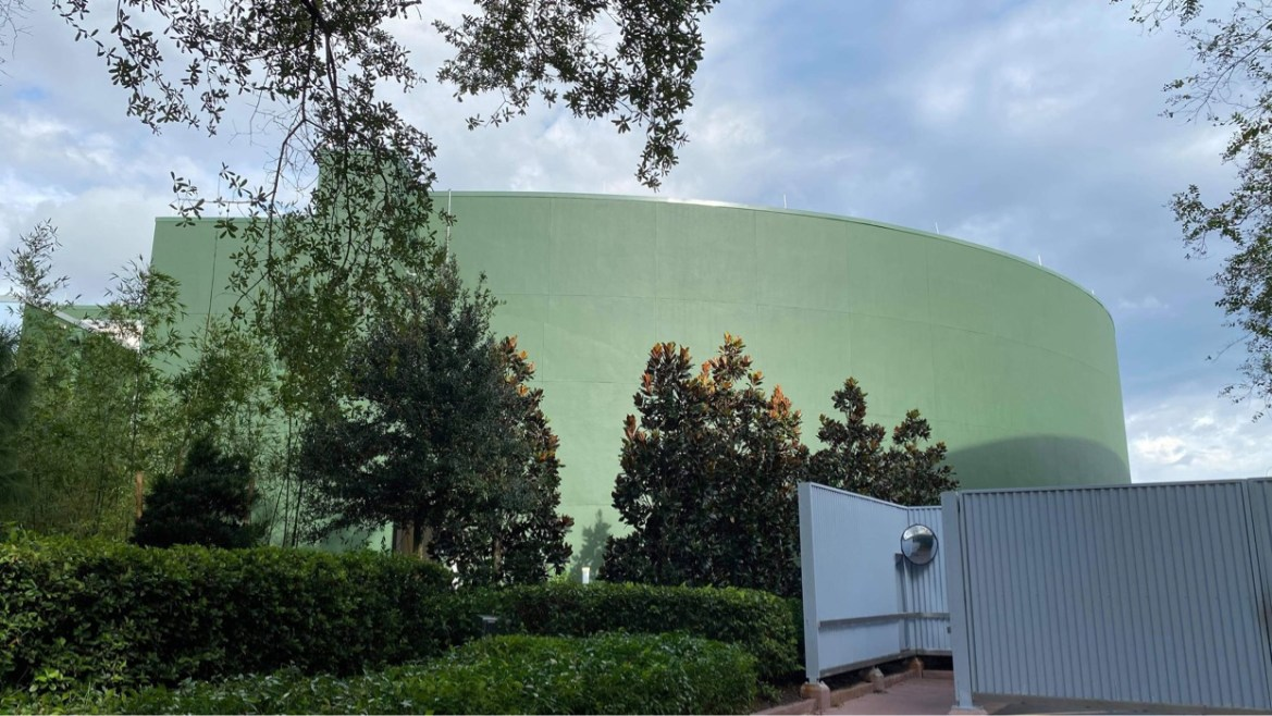 Walls are down around Space 220 entrance at Mission: Space in EPCOT