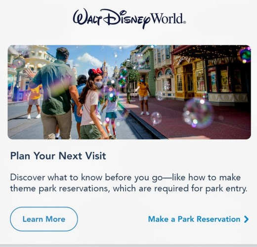 Disney Park Pass Reservation