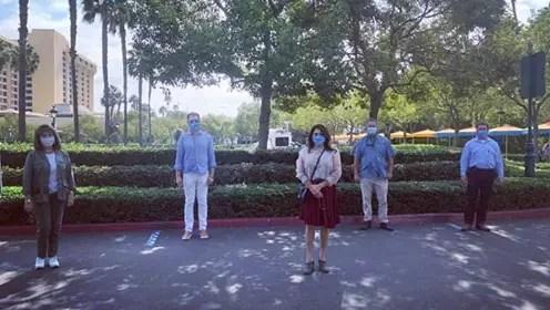 California State Legislators visit Disneyland to check on health & safety protocols
